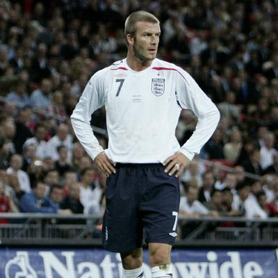 David Beckham avec l'équipe nationale Anglaise