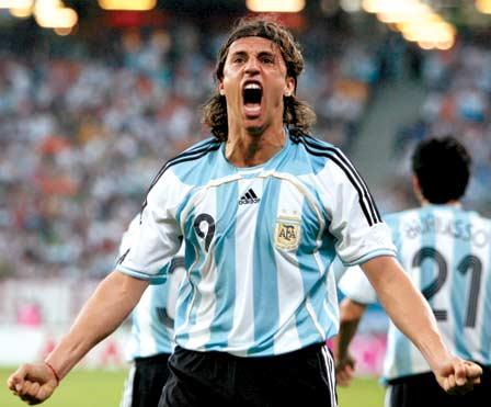 Hernan Crespo best Argentine footballer