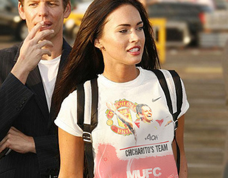 Megan Fox Manchester United fan
