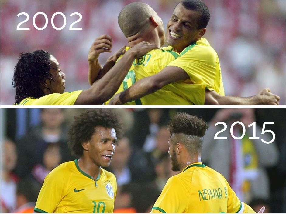 Brésil 2002 vs 2015