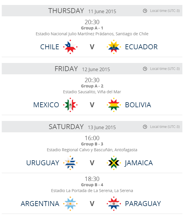 Copa America Calendrier.Calendrier Des Rencontres Copa America 2011 Kaktusrehberi Com