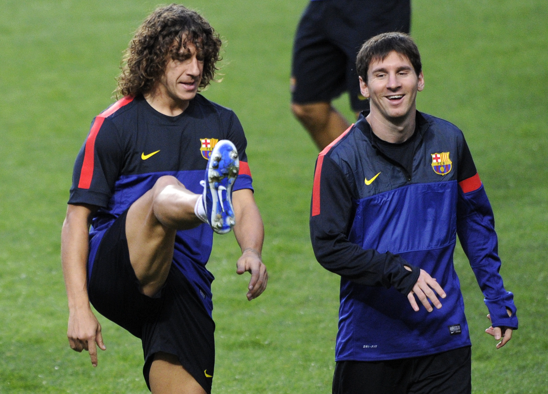Carles Puyol et Lionel Messi