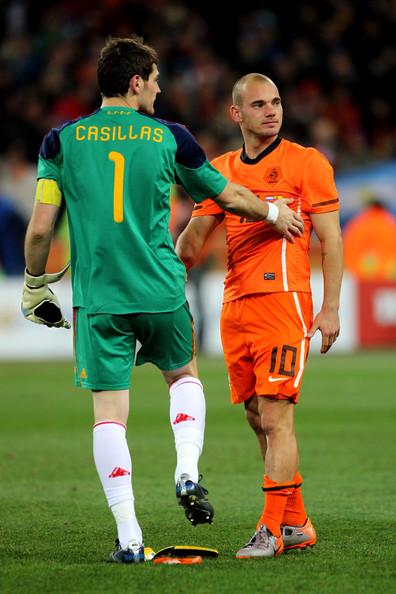 Iker Casillas Wesley Sneijder