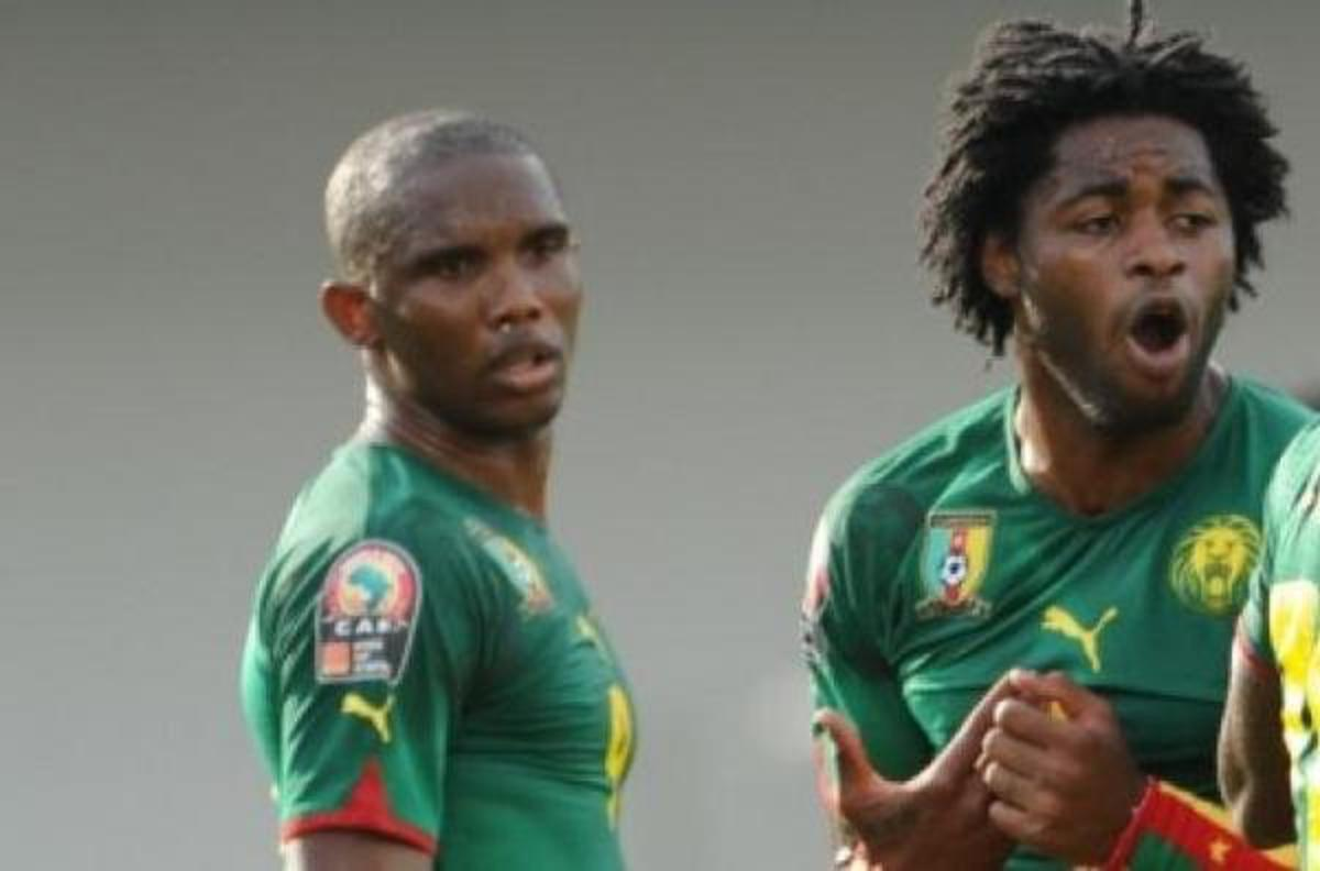 Samuel Eto'o et Alex Song