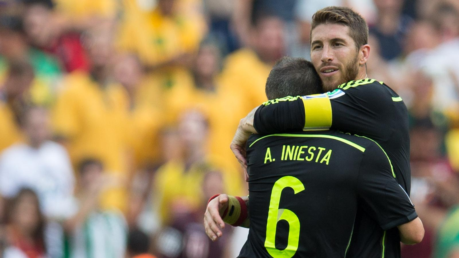 Sergio Ramos Andres Iniesta
