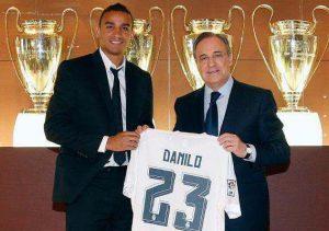Danilo, nouveau numéro 23 du Real Madrid