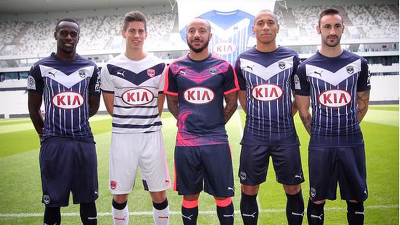 Les maillots de Bordeaux en 2015/2016