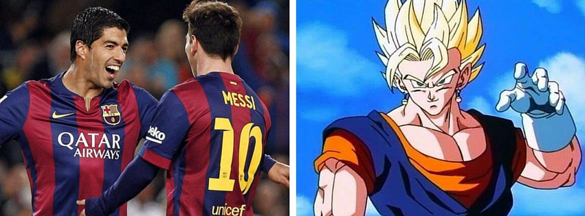 Messi et Suarez en mode Dragon Ball