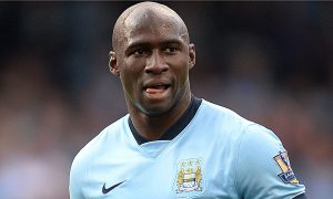 Eliaquim Mangala in action for Man City