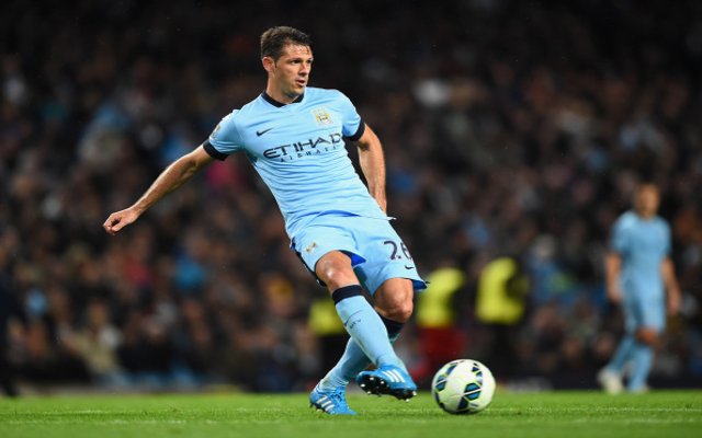 during the Barclays Premier League match between Manchester City and Liverpool at the Etihad Stadium on August 25, 2014 in Manchester, England.