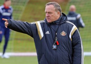 SUNDERLAND, UNITED KINGDOM - MARCH 20 : (EXCLUSIVE COVERAGE)     New Sunderland manager Dick Advocaat during a Sunderland AFC training session at The Academy of Light on March 20, 2015 in Sunderland, England. (Photo by Ian Horrocks/Sunderland AFC via Getty Images)