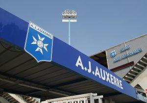 Stade Abbe Deschamps - Auxerre /Bordeaux - 11.08.2007 - L1 Ligue 1 - foot football - largeur ambiance logo