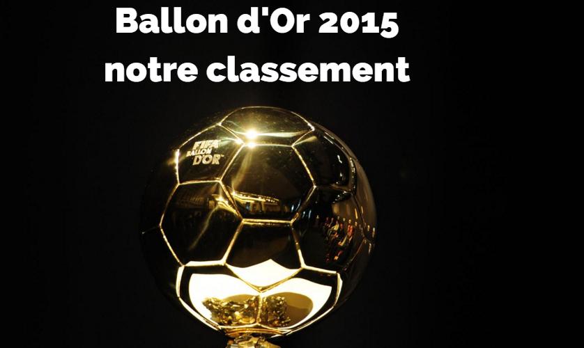 Ballon d'Or 2015 - notre classement