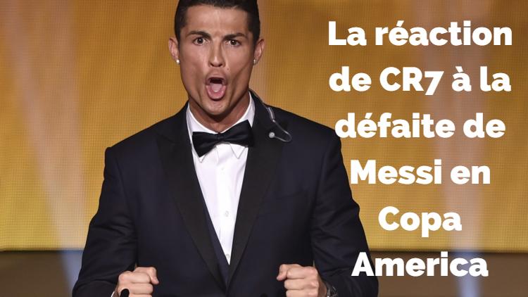La réaction de CR7 à la défaite de Messi