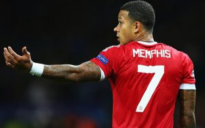 MANCHESTER, ENGLAND - AUGUST 18:  Memphis Depay of Manchester United looks on during the UEFA Champions League Qualifying Round Play Off First Leg match between Manchester United and Club Brugge at Old Trafford on August 18, 2015 in Manchester, England.  (Photo by Alex Livesey/Getty Images)