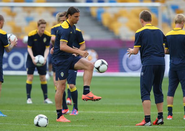 Zlatan à l'entraînement