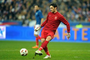 Football : France / Bresil - Amical - 09.02.2011 - Hugo LLoris (France)