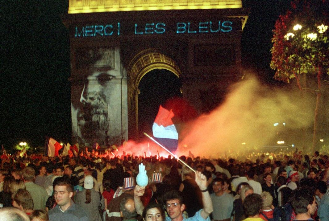 Zidane sur l'Arc de Triomphe