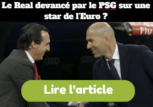 Le Real devance par le PSG.