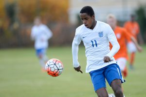 BOISSY-SAINT-LEGER, FRANCE - OCTOBER 29:  Ryan Sessegnon of England runs with the ball during the Tournoi International game between England U16 and the Netherlands U16  on October 29, 2015 in Boissy-Saint-Leger, France.  (Photo by Aurelien Meunier/Getty Images)
