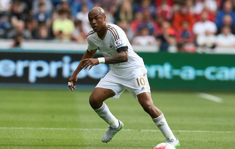 15th August 2015 - Barclays Premier League - Swansea City v Newcastle United - Andre Ayew of Swansea City - Photo: Paul Roberts / Offside.