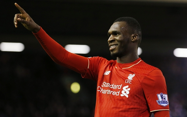 "Football Soccer - Liverpool v Leicester City - Barclays Premier League - Anfield - 26/12/15 Christian Benteke celebrates scoring the first goal for Liverpool Reuters / Phil Noble Livepic EDITORIAL USE ONLY. No use with unauthorized audio, video, data, fixture lists, club/league logos or ""live"" services. Online in-match use limited to 45 images, no video emulation. No use in betting, games or single club/league/player publications. Please contact your account representative for further details."