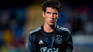 WAAKWIJK - RKC - Jong Ajax, Mandemakers stadion,  26-08-2016, Voetbal, Jupiler League seizoen 2016-2017. Teleurstelling na afloop bij  Jong Ajax speler Pelle Clement.