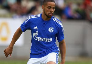 BOCHUM, GERMANY - JULY 05:  Sidney Sam of Schalke runs with the ball during the friendly match between TuS Hordel and FC Schalke 04 at Lohrheidestadion on July 5, 2014 in Bochum, Germany.  (Photo by Christof Koepsel/Bongarts/Getty Images)