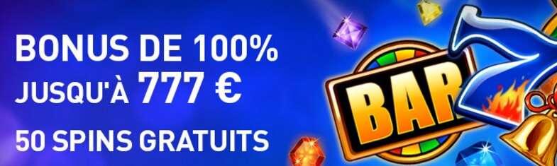 Bonus de dépôt Casino 777