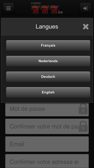 app Casino777.be