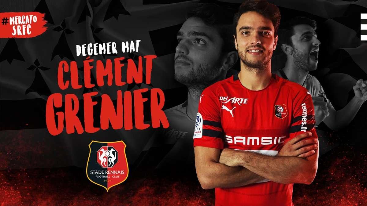 Officiel : Clément Grenier signe à Rennes !