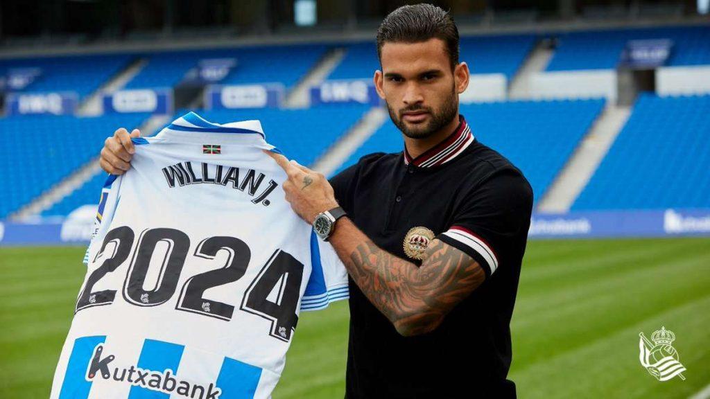 La Real Sociedad bloque Willian José et Diego Llorente