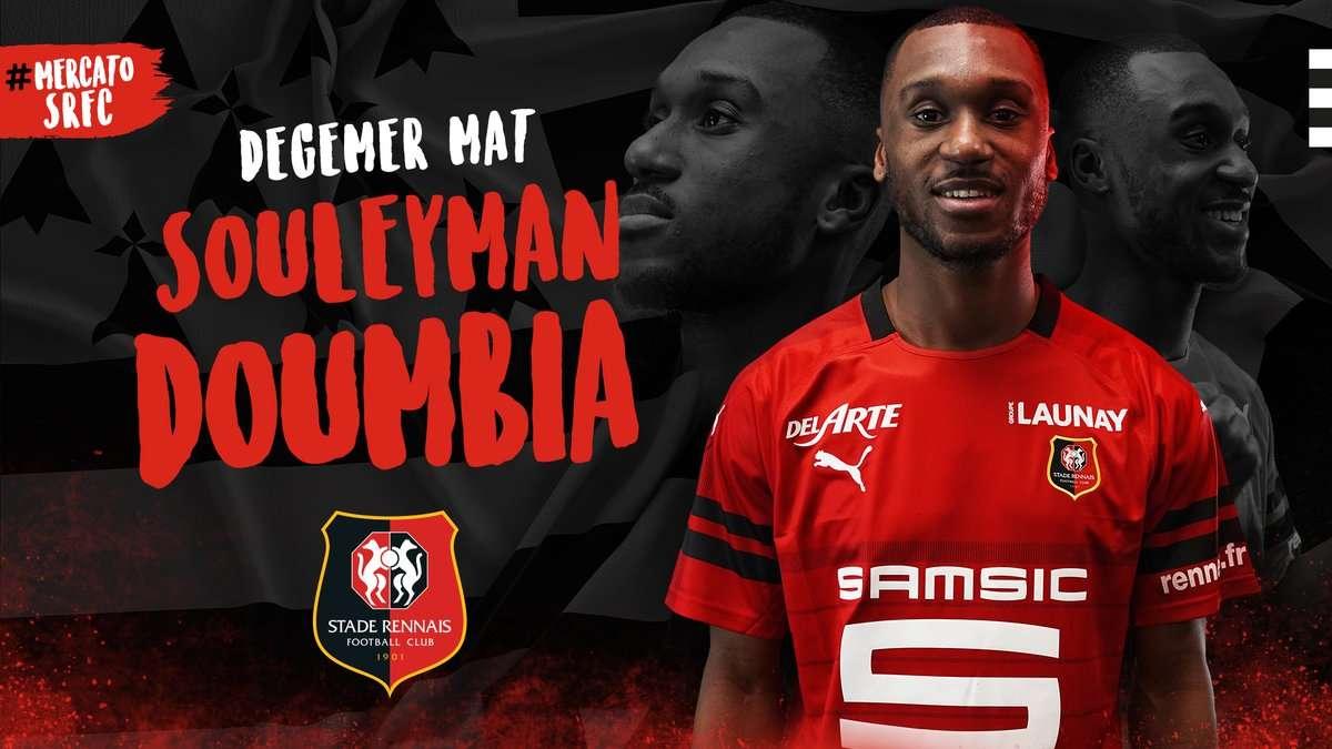 Officiel : Souleyman Doumbia rejoint le Stade Rennais