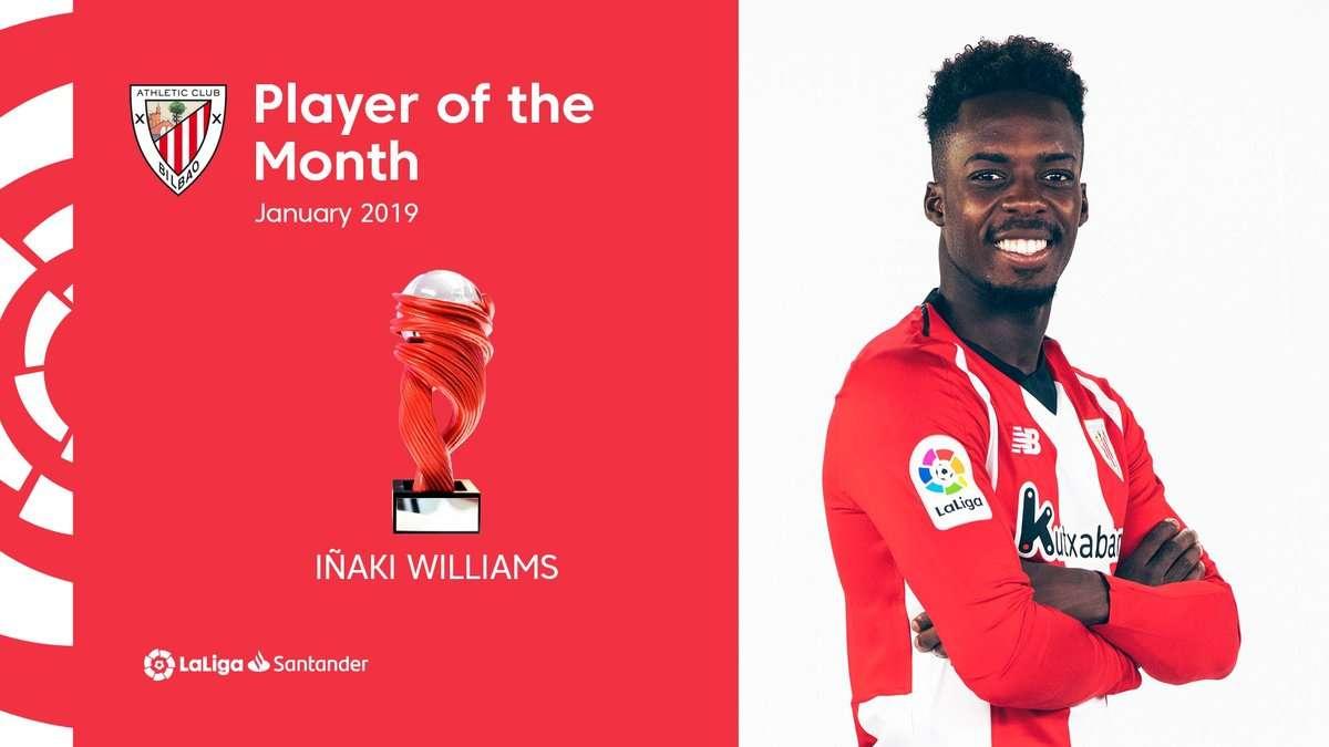 La Liga : Iñaki Williams élu joueur du mois