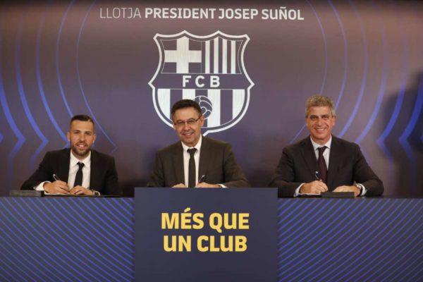 FC Barcelone : Jordi Alba a signé son nouveau contrat