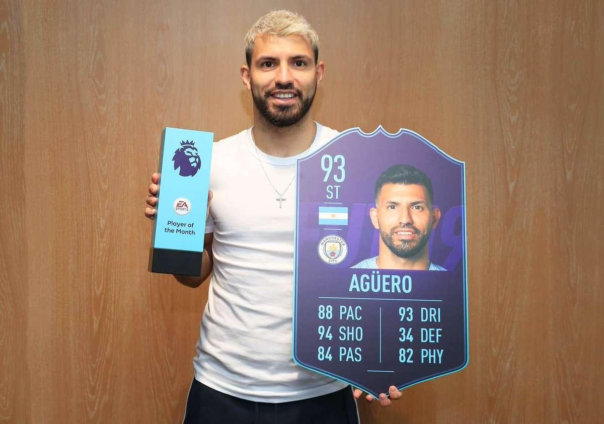 Premier League : Sergio Agüero élu joueur du mois !