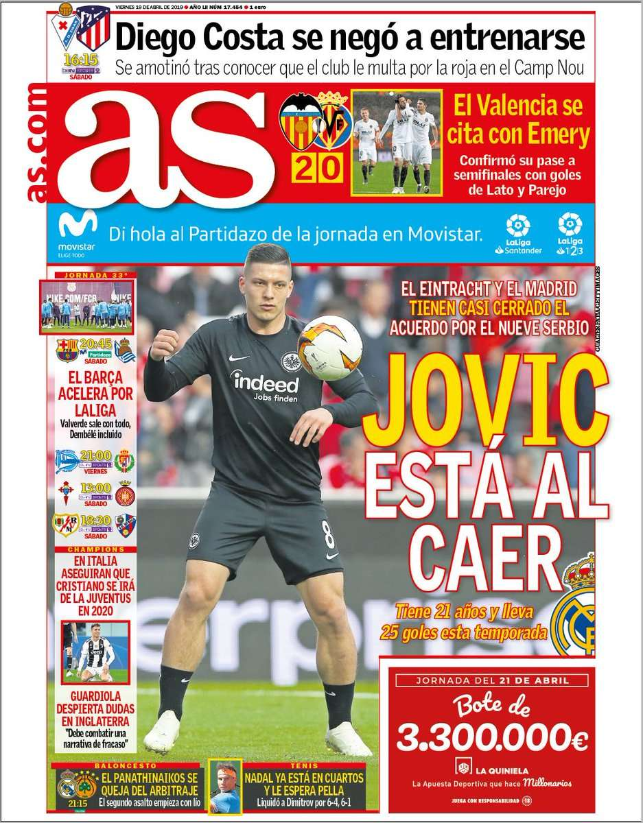 Real Madrid : un accord avec Jovic annoncé