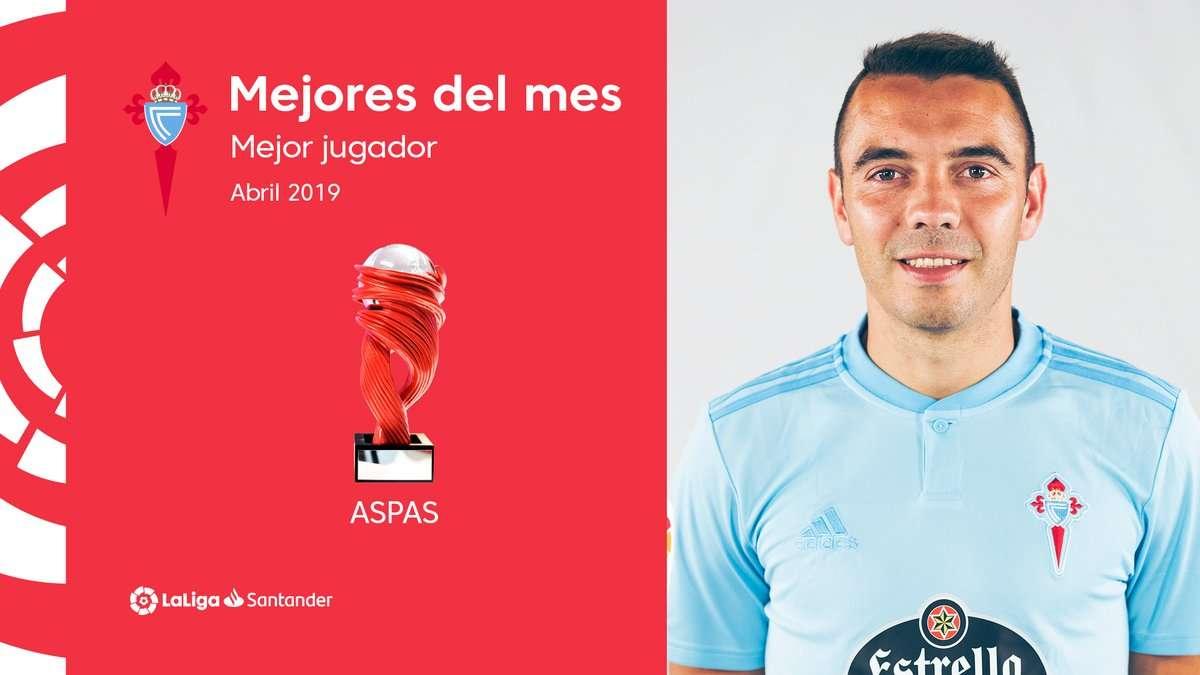 La Liga : Iago Aspas élu joueur du mois