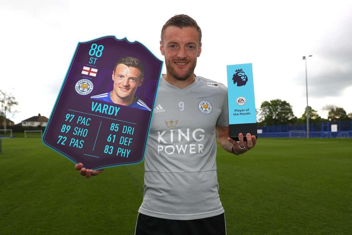 Premier League : Jamie Vardy élu joueur du mois !
