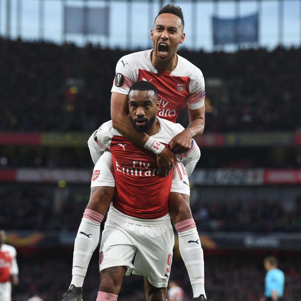 Ligue Europa : Laca-Auba, la double gachette d'Arsenal