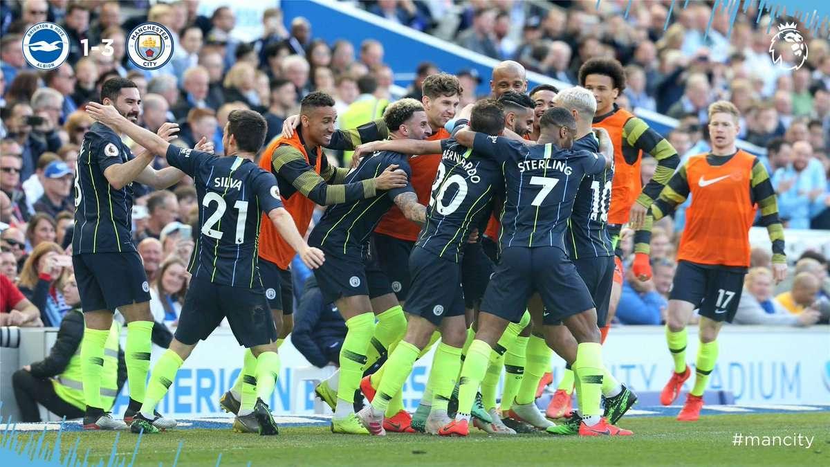 Premier League : Manchester City champion !