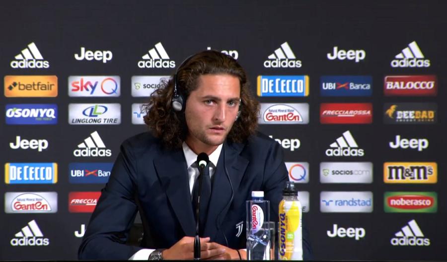 Juventus : les premiers mots d'Adrien Rabiot