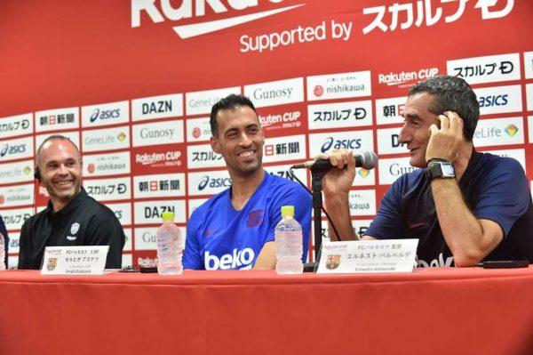 Les retrouvailles entre le FC Barcelone et Andrés Iniesta