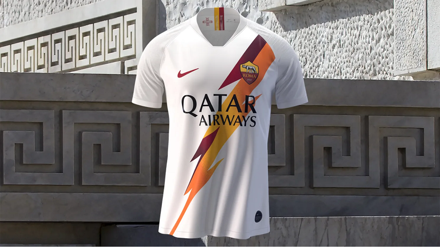 AS Roma : le maillot extérieur 20192020 dévoilé