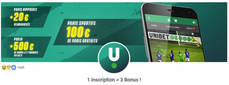 bonus unibet france