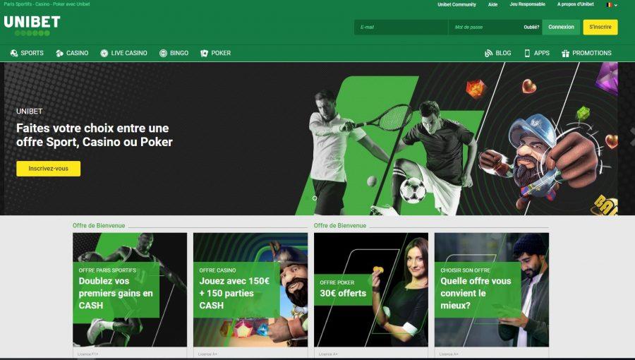 Code promo Unibet Belgique octobre 2019 : doublez les gains de votre 1e pari