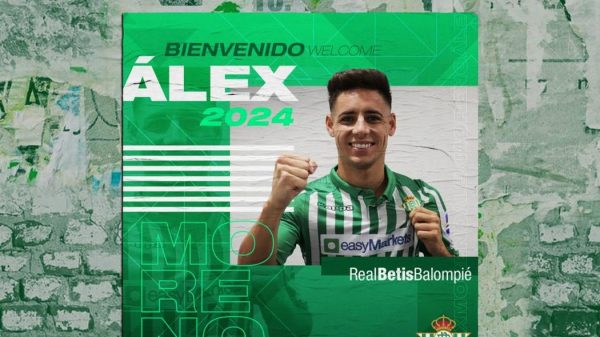 Officiel : Alex Moreno signe au Bétis