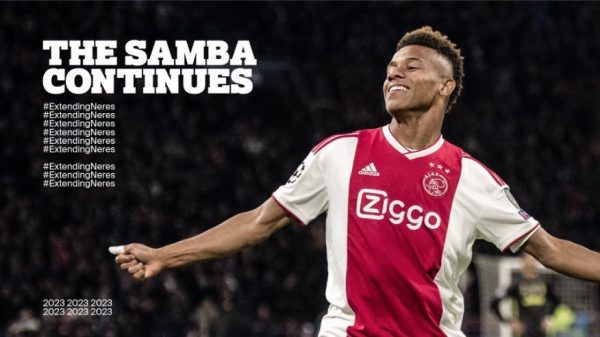 Officiel : David Neres rempile à l'Ajax