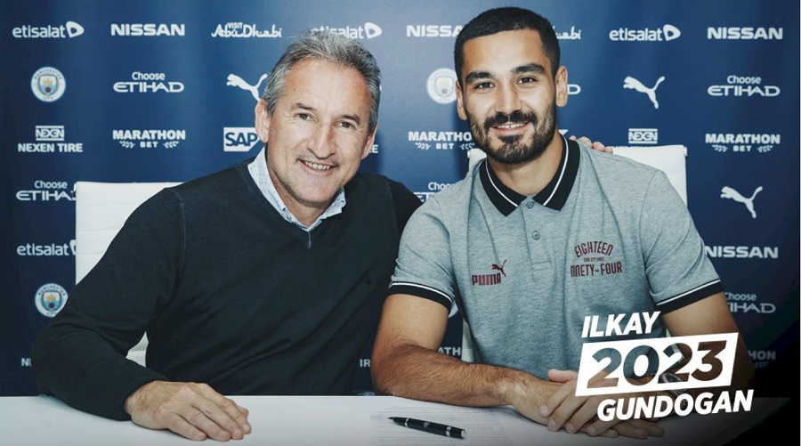 Officiel : Ilkay Gundogan poursuit l'aventure à City