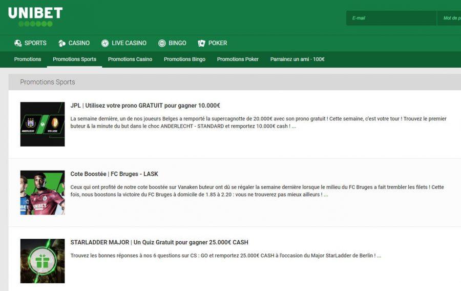 Notre avis sur le site Unibet : gamme de jeux, bonus, promos, appli mobile